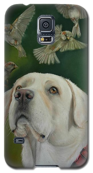 Galaxy S5 Case featuring the painting Watching Birds by Ceci Watson