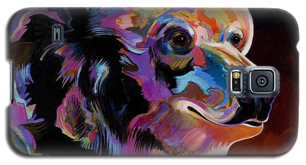 Galaxy S5 Case featuring the painting Watching For The Catch by Bob Coonts