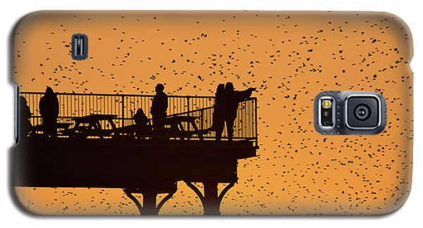 Watching The Sunset And Starlings In Aberystwyth Wales Galaxy S5 Case