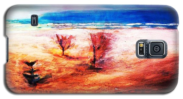 Galaxy S5 Case featuring the painting Water And Earth by Winsome Gunning