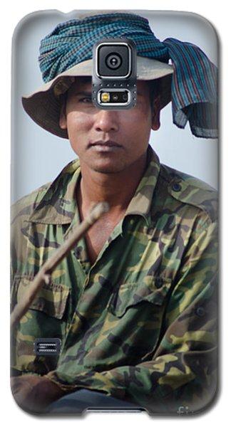 Water Buffalo Driver In Cambodia Galaxy S5 Case