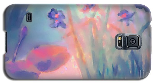 Galaxy S5 Case featuring the painting Water Iris by Holly Martinson