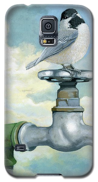Galaxy S5 Case featuring the painting Water Is Life - Realistic Painting by Linda Apple