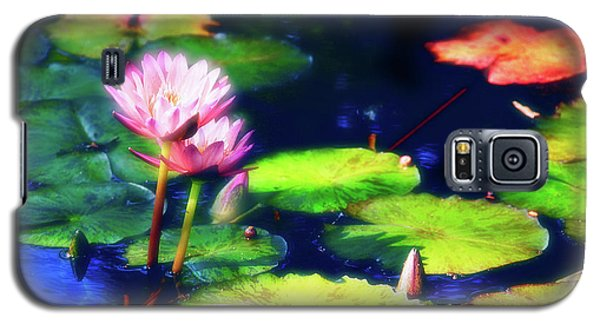 Galaxy S5 Case featuring the photograph Water Lilies by Harry Spitz