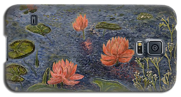 Water Lilies Lounge Galaxy S5 Case by Felicia Tica