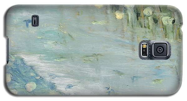 Galaxy S5 Case featuring the painting Water Lilies by Michal Mitak Mahgerefteh