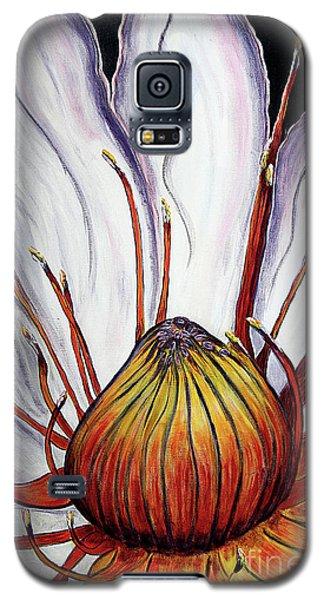 Galaxy S5 Case featuring the painting Water Lilly  by Jolanta Anna Karolska