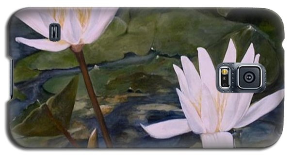 Galaxy S5 Case featuring the painting Water Lily At Longwood Gardens by Laurie Rohner
