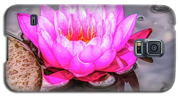 Water Lily In The Rain Galaxy S5 Case