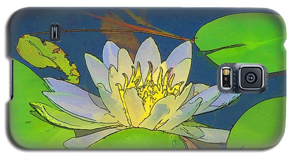 Galaxy S5 Case featuring the digital art Water Lily by Maciek Froncisz