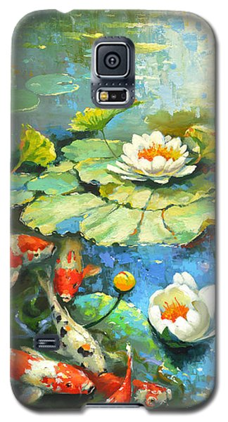 Water Lily Or Solar Pond      Galaxy S5 Case by Dmitry Spiros