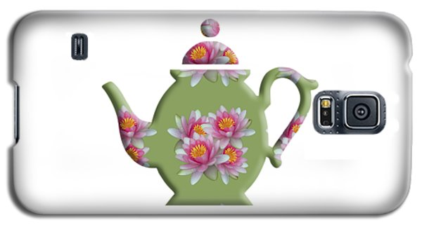 Water Lily Pattern Teapot Galaxy S5 Case