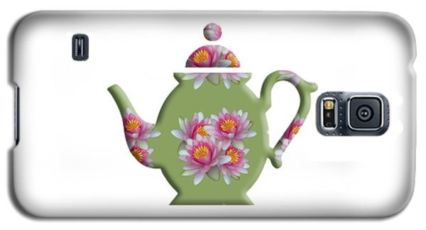 Water Lily Pattern Teapot Galaxy S5 Case