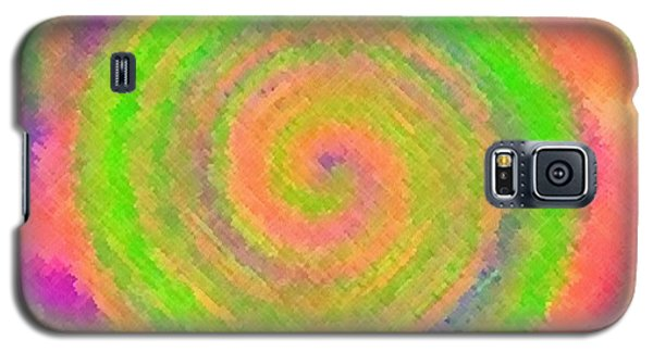 Galaxy S5 Case featuring the digital art Water Melon Whirls by Catherine Lott