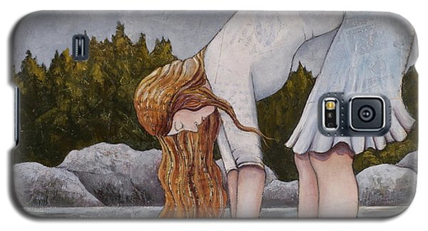 Galaxy S5 Case featuring the painting Water Prayer by Sheri Howe