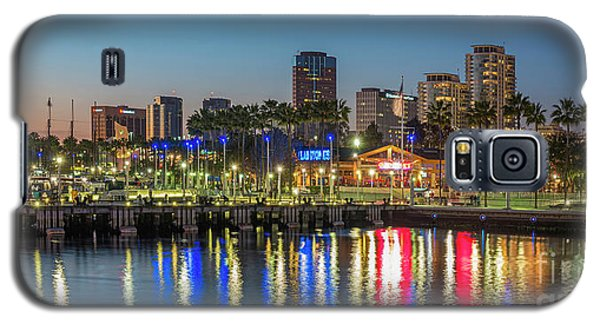 Water Reflecting Lights Sunset Long Beach Ca Galaxy S5 Case
