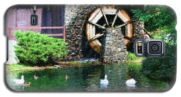 Galaxy S5 Case featuring the painting Water Wheel Duck Pond by Smilin Eyes  Treasures