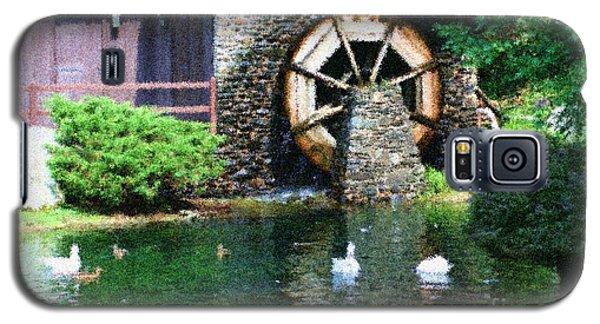 Water Wheel Duck Pond Galaxy S5 Case