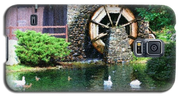 Water Wheel Duck Pond Galaxy S5 Case