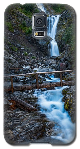Galaxy S5 Case featuring the photograph Waterall And Bridge by Chris McKenna