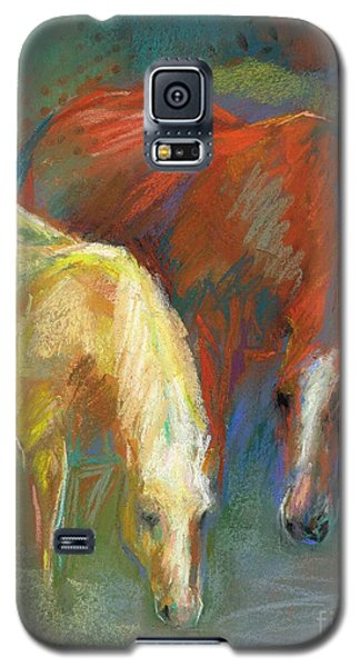 Galaxy S5 Case featuring the painting Waterbreak by Frances Marino