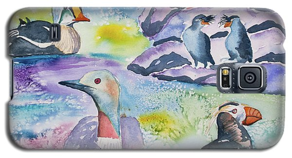 Auklets Galaxy S5 Case - Watercolor - Alaska Seabird Gathering by Cascade Colors