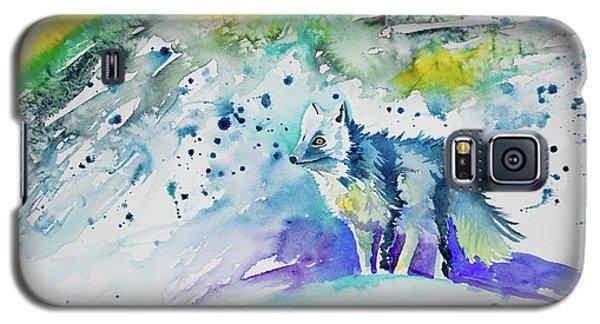 Watercolor - Arctic Fox Galaxy S5 Case