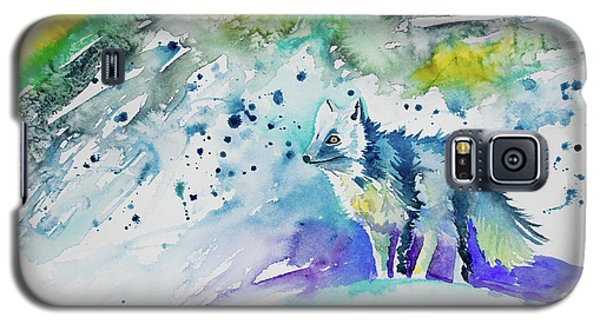Watercolor - Arctic Fox Galaxy S5 Case