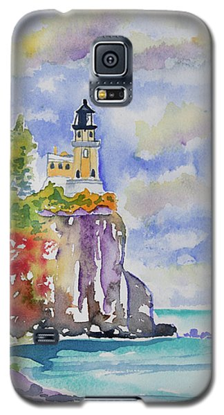 Watercolor - Autumn At Split Rock Lighthouse Galaxy S5 Case