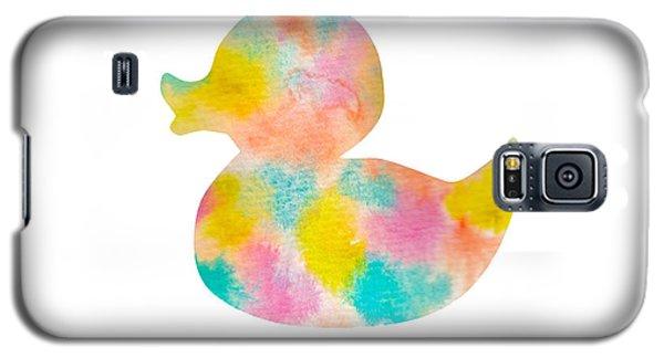 Watercolor Baby Duck Galaxy S5 Case by Nursery Art