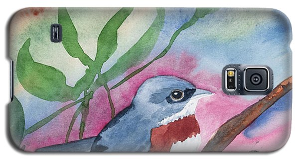 Watercolor - Bird With Colorful Background Galaxy S5 Case