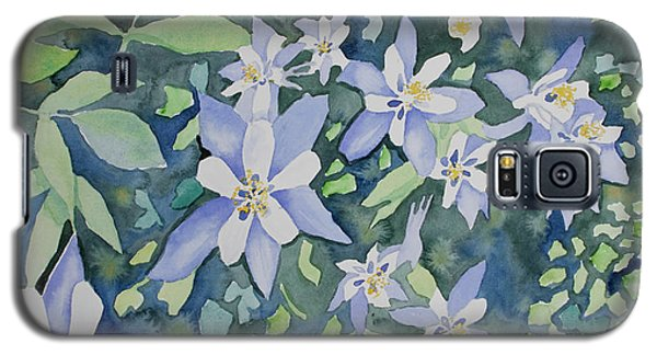 Watercolor - Blue Columbine Wildflowers Galaxy S5 Case