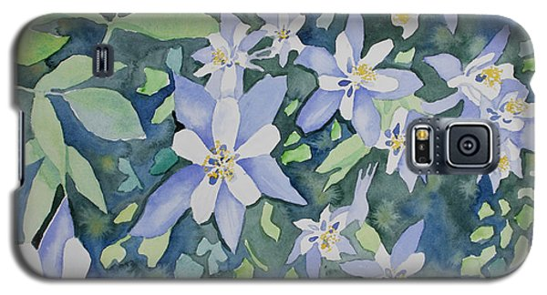 Watercolor - Blue Columbine Wildflowers Galaxy S5 Case