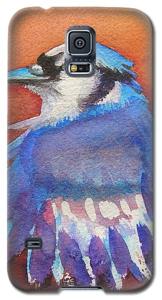Galaxy S5 Case featuring the painting Watercolor Blue Jay by Patricia Piffath