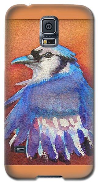 Watercolor Blue Jay Galaxy S5 Case by Patricia Piffath