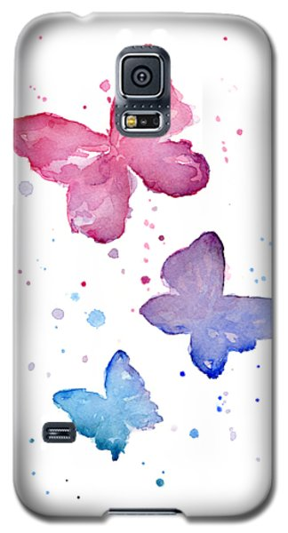 Butterfly Galaxy S5 Case - Watercolor Butterflies by Olga Shvartsur