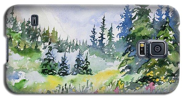 Watercolor - Colorado Summer Scene Galaxy S5 Case
