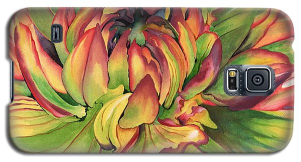Galaxy S5 Case featuring the painting Watercolor Dahlia by Angela Armano