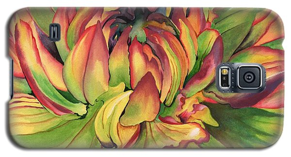 Watercolor Dahlia Galaxy S5 Case