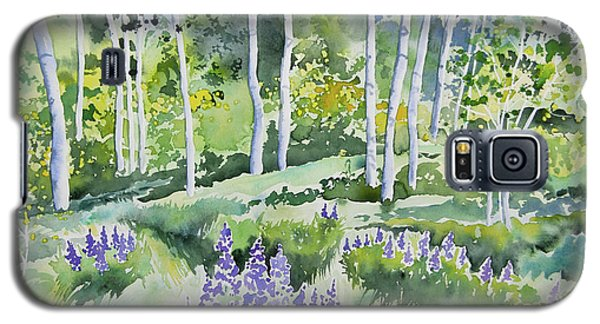 Watercolor - Early Summer Aspen And Lupine Galaxy S5 Case