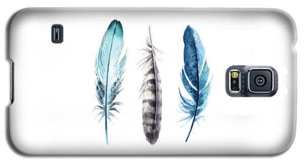 Watercolor Feathers Galaxy S5 Case