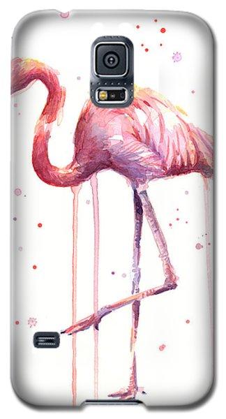 Watercolor Flamingo Galaxy S5 Case