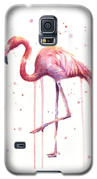 Watercolor Flamingo Galaxy S5 Case by Olga Shvartsur