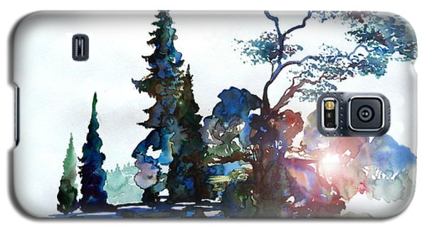 Watercolor Forest And Pond Galaxy S5 Case by Curtiss Shaffer