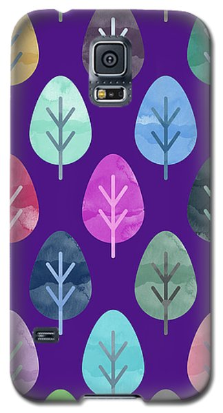 Watercolor Forest Pattern II Galaxy S5 Case by Amir Faysal