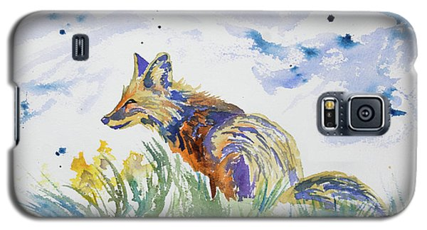 Watercolor - Fox On The Lookout Galaxy S5 Case