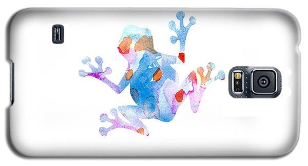 Watercolor Frog Galaxy S5 Case by Nursery Art