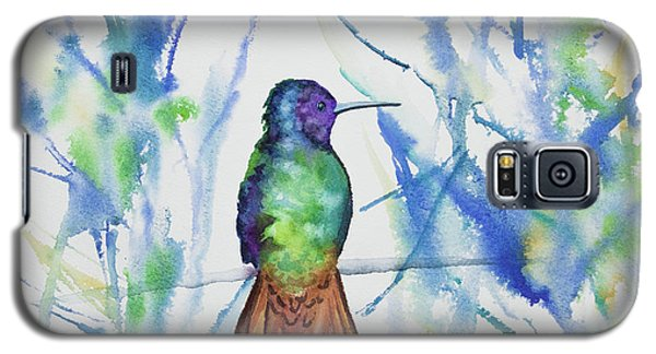 Watercolor - Golden-tailed Sapphire Galaxy S5 Case