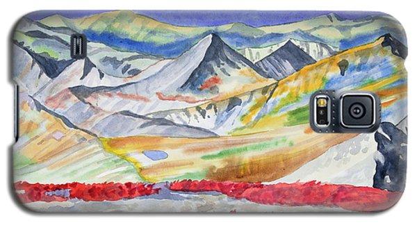 Watercolor - High Alpine Autumn Landscape Galaxy S5 Case