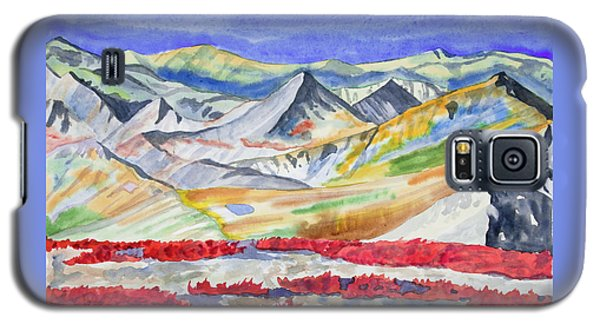 Watercolor - High Alpine Autumn Landscape Galaxy S5 Case
